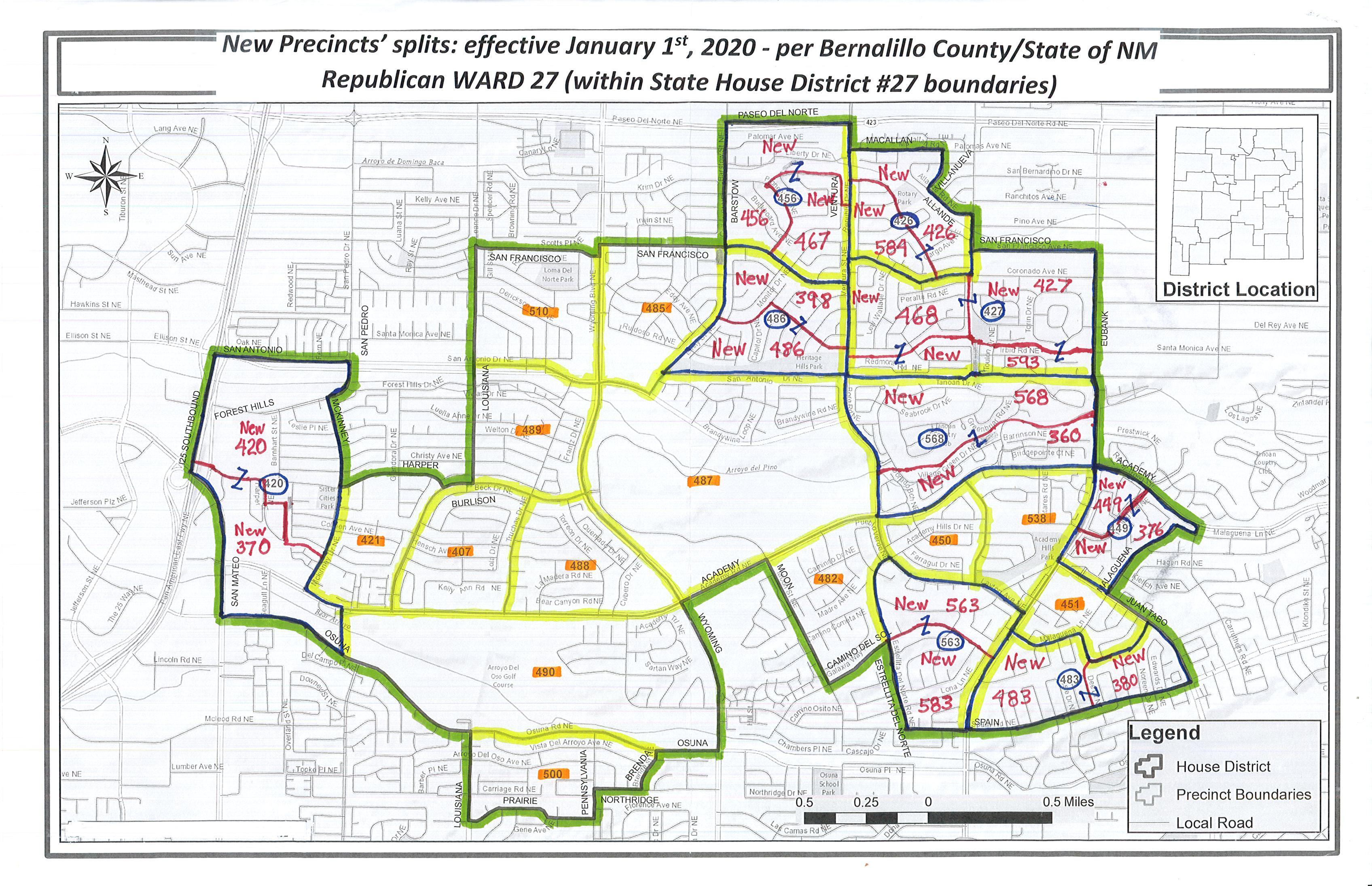 Ward27Precincts'-NewSplits2020